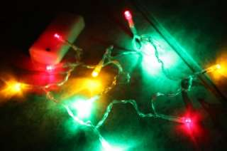 Multi Color BATTERY POWERED LIGHTS for Ugly Christmas Sweater s m l xl