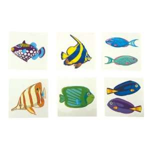 2 Tropical Fish Temporary Tattoos Case Pack 1008