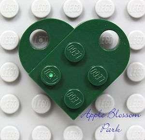 NEW Lego St. Patricks Day DARK GREEN HEART   Token of Irish Love