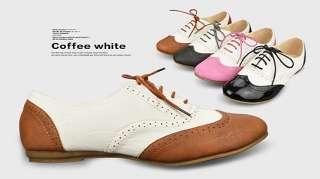 Womens Shoes Classics Lace Up Dress Oxfords Low Flats Heels Multi