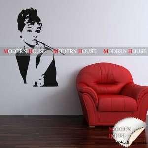 Modern House Audrey Hepburn Giant Portrait removable Vinyl