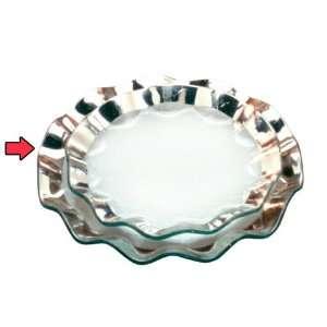 AnnieGlass Ruffle Dinner Plate Platinum