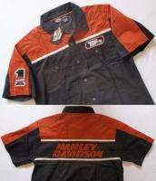 HARLEY DAVIDSON MEN BLACK/ORANGE SHIRT XLARGE HD53BK XL
