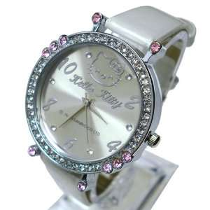 Hello Kitty Pink and Clear Crystal Watch + Free Hollow