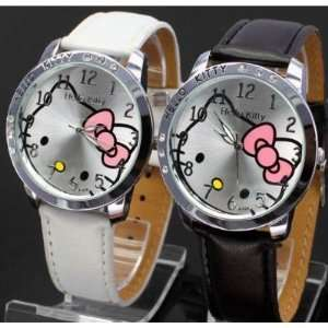 Hello Kitty Black & White Classic Watch With One Pair Free
