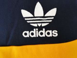 ADIDAS ORIGINALS SPO FB Soccer TRACK TOP Navy Blue & White JACKET XL
