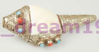Tibetan Conch Shell Bugle Buddhist Trumpet Horn