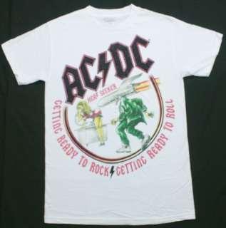 Heat Seeker Graphic T Shirt White Hard Rock & Roll Music NWOT
