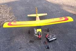 RC Top Flite Sierra Airplane,OS Max Engine,Futaba Radio