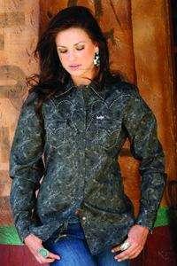 Cruel Girl Jeans Long Performance Sleeve Black Retro Shirt S M L XL