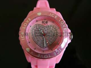 top brand 13 colors ice LOVE HEART watch fashion jelly watch