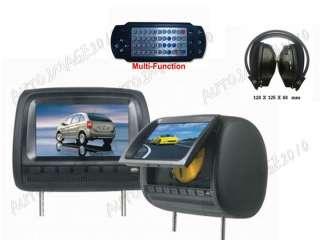 Pair 9 Car Headrest Digital LCD Monitor DVD Player