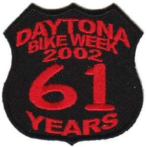 DAYTONA Rally 2002 61 Years BIKE WEEK Biker Vest Patch