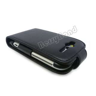 New Flip Leather Case Cover for HTC Wildfire S G13 Black