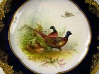 George Jones Hand Painted English Porcelain Bird Plate Birbeck