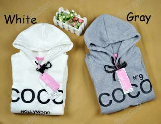 Korea Women Cute Hoodie Sweatshirt Tracksuits Outerwear