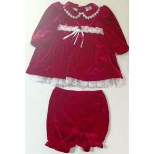 Baby Girl 6 9 Months, Red Christmas Holiday Winter Frock