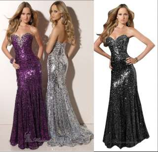 New Sparkle Sequin Wedding Evening Formal Clubwear Prom Shiny dress 3