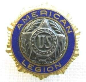 Vtg Pat.54296 US american Legion Gold plated enamel Pin