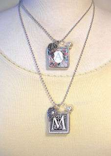 MONOGRAM INITIAL LETTER ~ B ~ HEART CHARM NECKLACE
