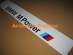 BMW M Power Windshield Sunstrip Decal Sticker M3 M5 Z4