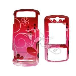 PINK FLOWERS snap on cover faceplate for Motorola RIZR Z3 (many other