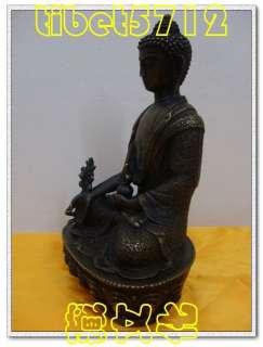 Buddhist bronze Healing Medicine buddha statue 8 tall