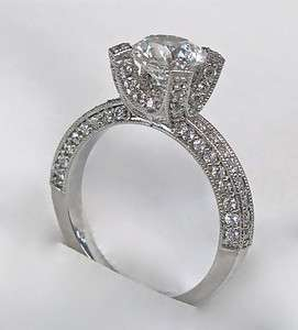 30Ct ROUND CUT ENGAGEMENT RING 14K SOLID GOLD