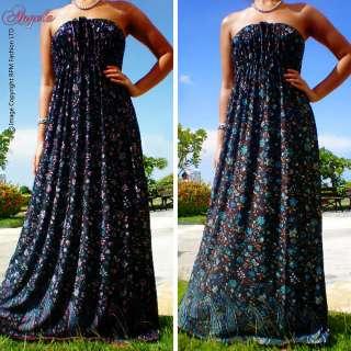 Floral Evening.Cocktail Long Maxi Dress Size M L 6 8 10 12 US