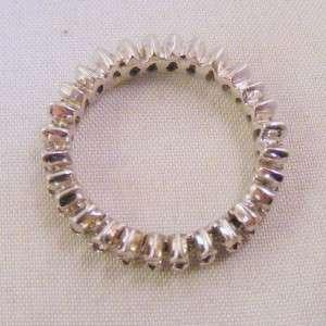 ESTATE DIAMOND 14K WHITE GOLD ETERNITY BAND RING 1.5 CARATS