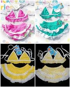 baby toddler childrens swimsuit swimwear bikini tutu petti skirt new