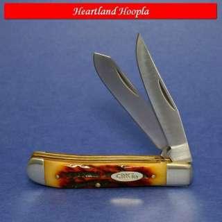 CRKT Pocket Classic Trapper Knife Amber Bone Handles