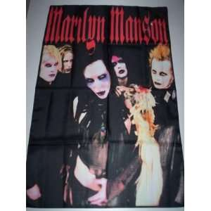MARILYN MANSON Cloth POSTER Textile Flag HUGE 5x3 Ft NEW Home