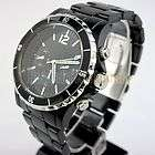 Fashion Young Style Plastic Black Dial Wrist Watch