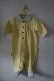 Preemie Baby Girl Flower Romper Sleeper 1 piece Yellow