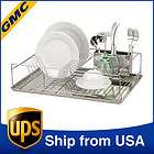 Stainless Steel Dish Utensil Kitchenware Drying Rack Drainer 8130