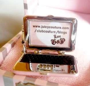 BNIB Juicy Couture Pink Laptop Charm /Necklace Pendant