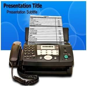 com Fax Powerpoint Templates   Fax Powerpoint (PPT) Backgrounds   Fax