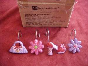 Home Interiors Curtain Rings Hooks Shoes Purse Flowers