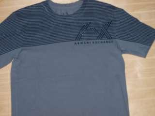 Armani Exchange Raised Logo T Shirt Gray NWT