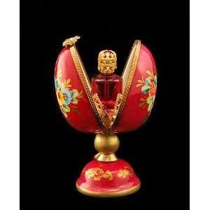 Large Egg W Perfume Bottle & Roses French Limoges Box