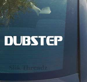 Dubstep Vinyl Decal Sticker drum bass music dance dj 2