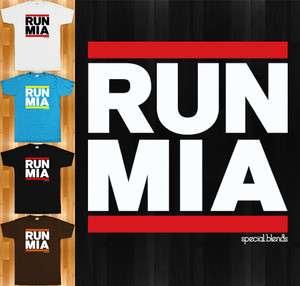 RUN MIAMI T shirt   South Beach 305 Dolphins Heat Florida   NEW XS 4XL