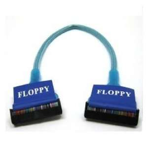 Link Depot Round Floppy Drive Cable (10 Inch, Blue UV