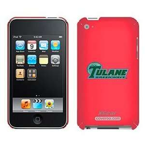 Tulane Green Wave banner on iPod Touch 4G XGear Shell Case