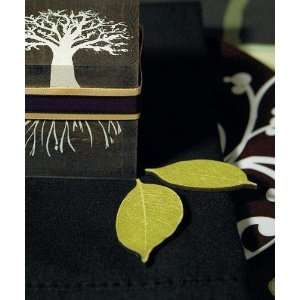 Willow Shaped Wooden Die cut Leaves in Woods Green