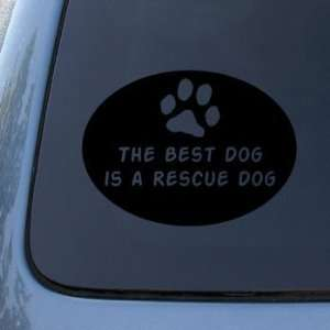 BEST DOG RESCUE DOG   Vinyl Car Decal Sticker #1659  Vinyl Color