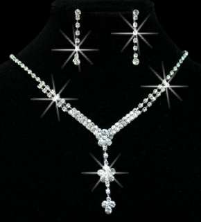 The Latest Craze Refined Wedding/Bridal Czech Crystal Necklace Sets In