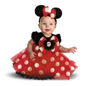 Disney Red Minnie Mouse Infant Costume / Red/Black   Size 12/18 Months