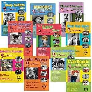 S&S Worldwide Classic Tv Dvd Set (Set of 10) Toys & Games